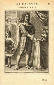 King Charles (karl) Xi Of Sweden. Wearing Armour. Coats Of Arms. Mallet 1683 H3v5wcff-10120021-371801185