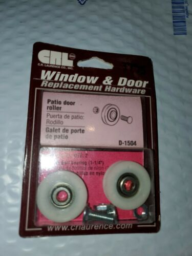 "Prime-Line D 1504 Patio Door Roller  1-1//4/"" Nylon Ball Bearing New in Package"