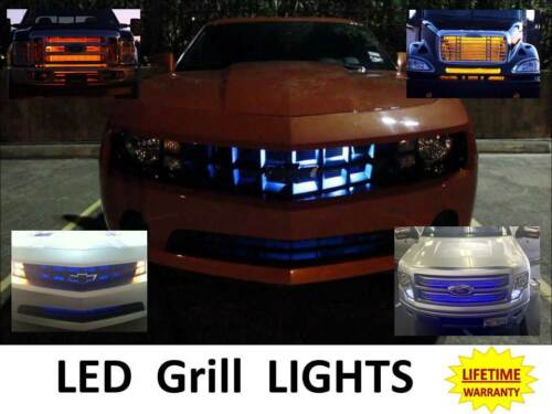 Big Rig Tractor /& Trailer Accessory Safety Front KIT LED Truck Grill Lights