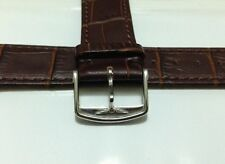 NEW GENUINE LONGINES 20mm BROWN GENUINE LEATHER WATCH STRAP OEM 20/18MM
