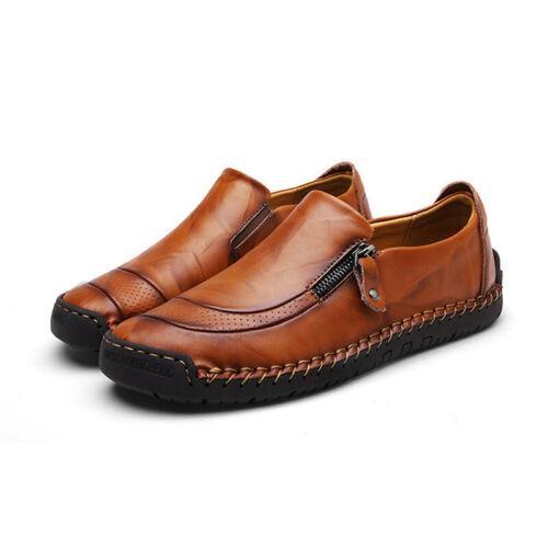 UK Men/'s Summer Leather Formal Casual Shoes Antiskid Loafers Moccasins Slip on