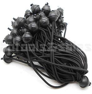 8 Quot Heavy Duty Black Ball Bungee Cord Tie Canopy Tarp