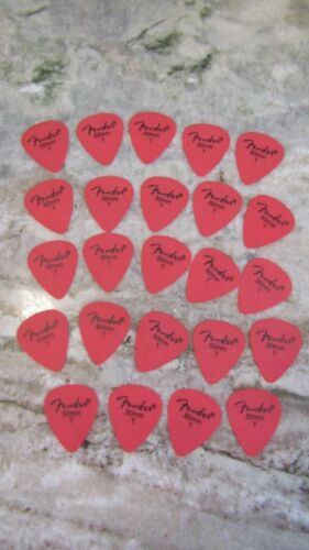 CHALKY GRIP 24 FENDER GUITAR PICKS 351 TYPE IN RED .50mm LIGHT // THIN