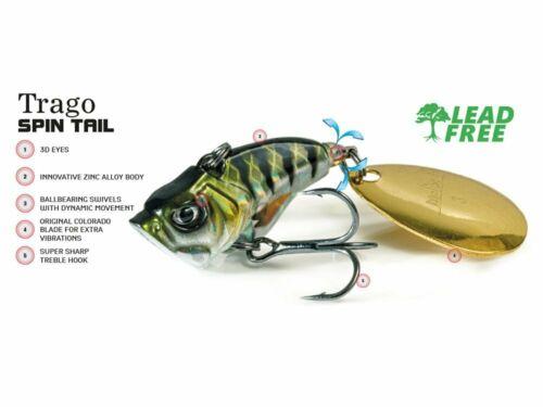 Molix Trago Spin Tail 2.5cm 1in 10.5g 3//8oz Köder FARBEN NEU 2020