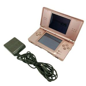 Nintendo DS Lite Pink Handheld Video Game Console with Charger - Model USG-001