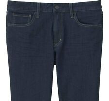 UNIQLO Men's Skinny Fit Tapered Jeans Blue 31W x 34L Stretch Denim Pants **NWT**