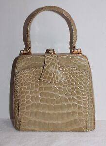 color dorado dorado piel con cocodrilo Hélène Bolso marco de de de HAvnnfz