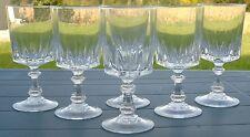 Service de 6 verres à eau en cristal d'Arques. Modèle Louvre