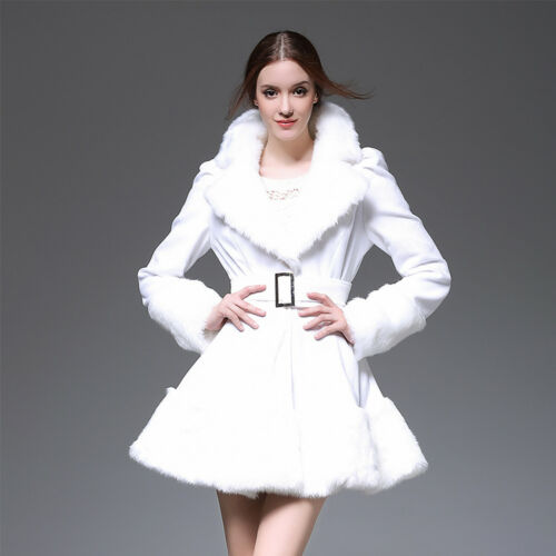 di Giacca M945 Dress Trench Princess Warm Inverno pelliccia di collo Cappotto pelliccia tWxUXq