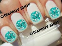 Top Quality Ovarian Cancer Awareness Butterfly》tattoo Nail Art Decals