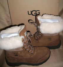 68ba65a1cb0 UGG Womens 6 Chestnut Brown Leather Adirondack III Winter Snow BOOTS ...