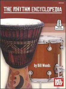 The Rhythm Encyclopedia Sheet Music Book With Audio Drum Set Cajon Conga Djembe Achat SpéCial