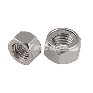 M3 50pcs//lot M3 M4 M5 M6 M8 A2 Stainless Steel Metric Thread Kep Nuts