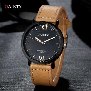 Military-Leather-Waterproof-Date-Quartz-Analog-Army-Men-039-s-Quartz-Wrist-Watches