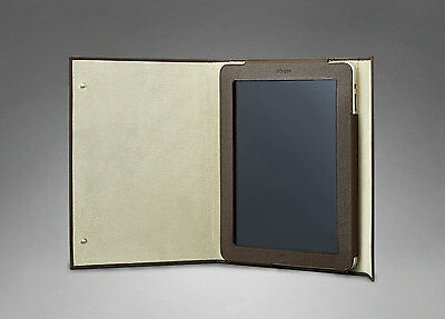 Yves Saint Laurent Ycon Ipad Case in Olive Leather