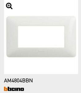 BTICINO MATIX PLACCA BIANCA 4 POSTI AM4804BBN