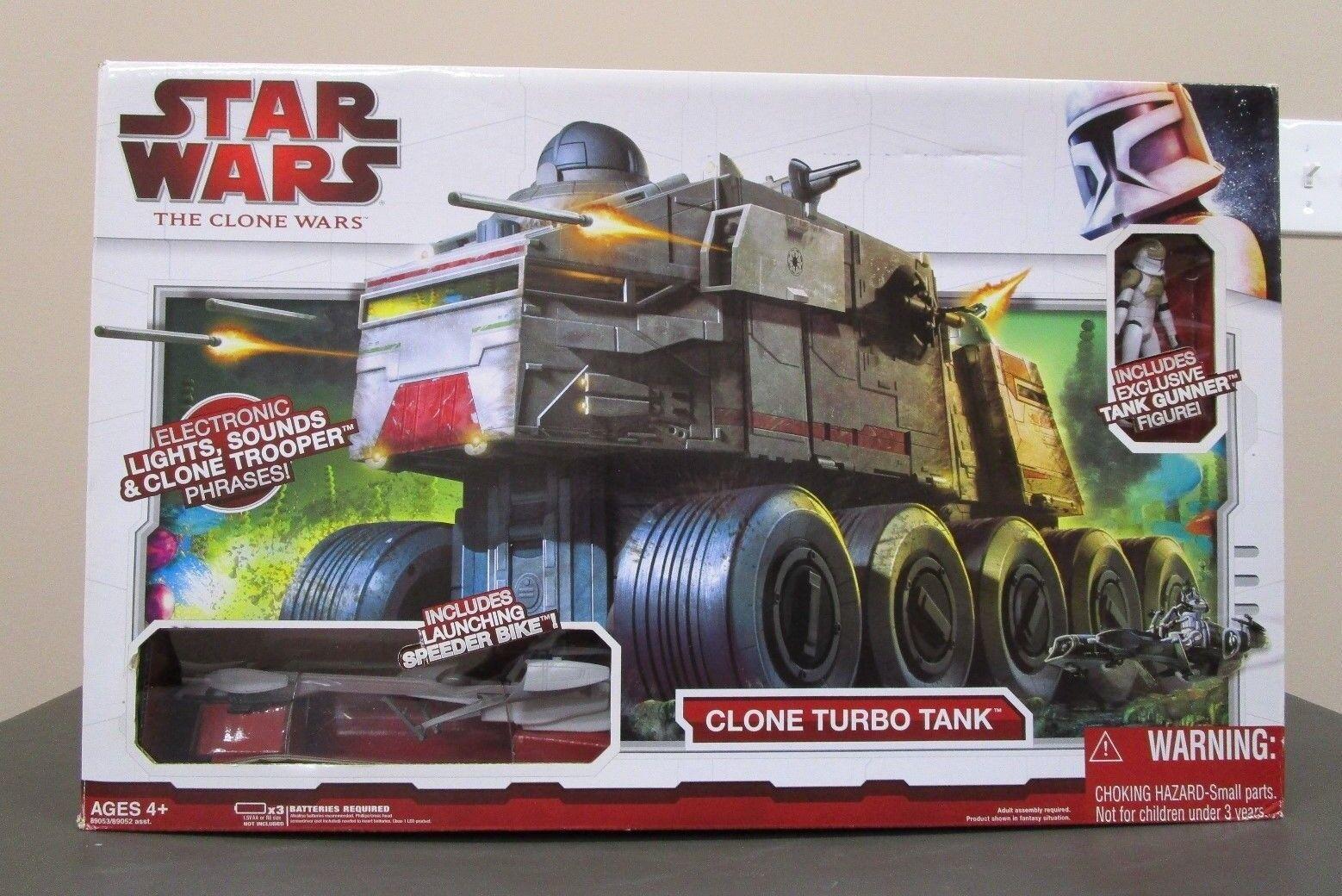 Clone Turbo Turbo Turbo Tank 2008 STAR WARS The Clone Wars TCW MIB w Gunner Speeder 050c49