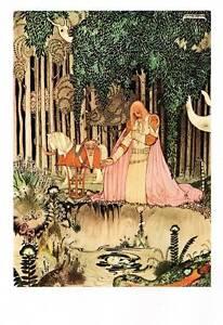 1975-Original-Vintage-Kay-Nielsen-Art-Deco-Nouveau-Print-Fairy-Tale