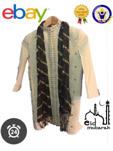 Hommes Enfants Islamique Robe Jubba Kurta Pyjama Eid Shalwar Sherwani pendjabi Toutes Tailles