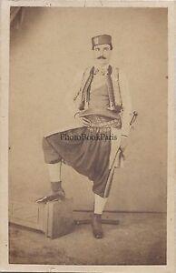 Balcani Montenegro Grecia Foto CDV Vintage Albumina Ca 1860