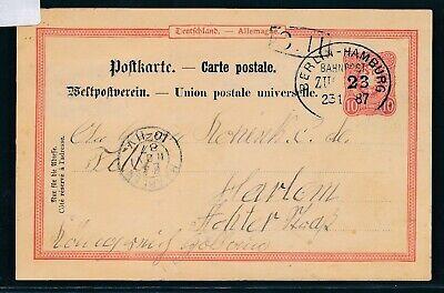 35047) Bahnpost Ovalstempel Berlin - Hamburg Zug 23, Ga 1887 > Niederlande Farben Sind AuffäLlig