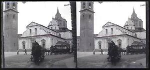 Spagna O Italia c1920 Foto Negativo Placca Da Lente Stereo Vintage VR16L2n19