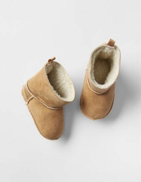 BABY GAP BOY BROWN  BEAR BOOTIE BOOTS SIZE 6-12 MOS 3-6 MOS