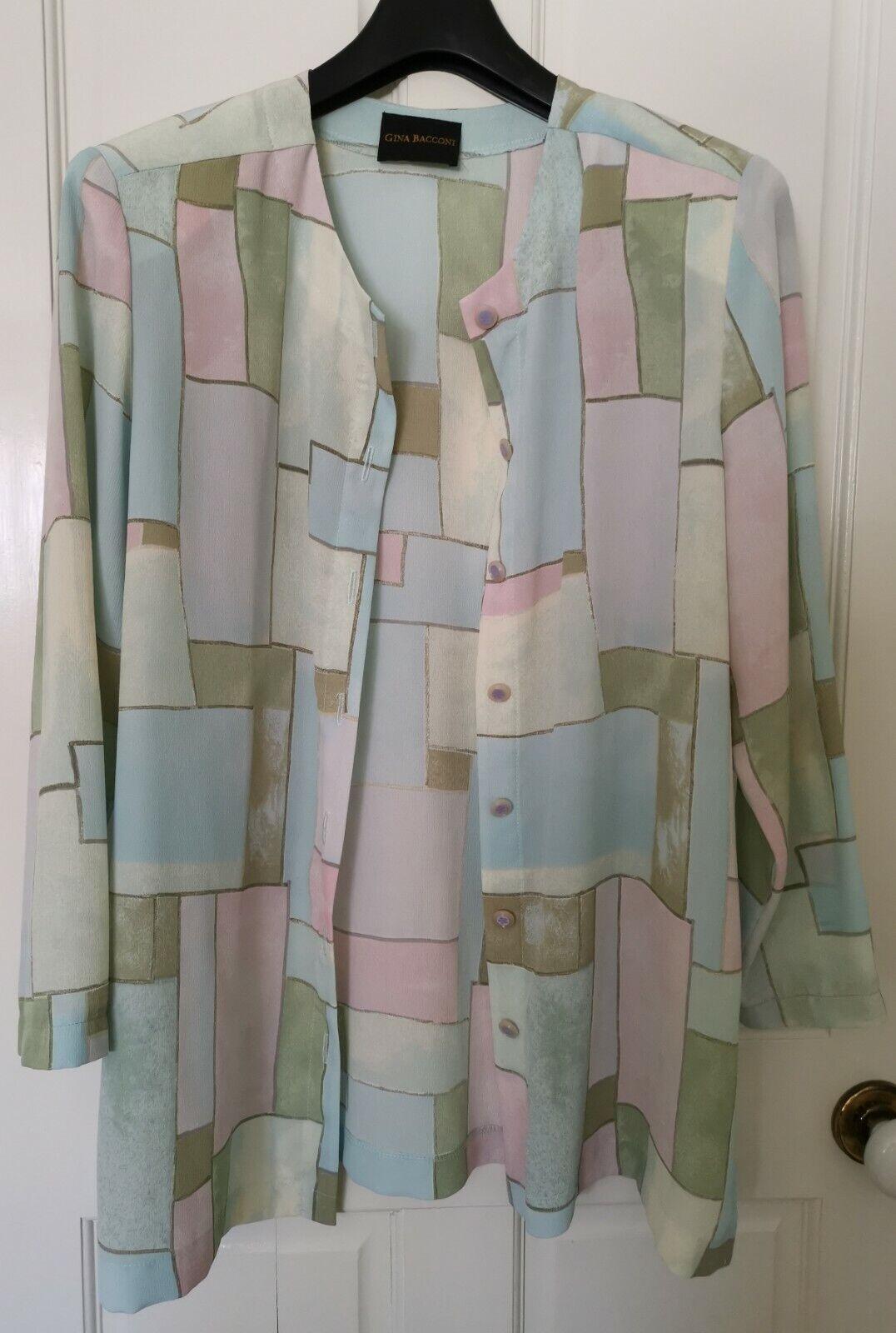 Gina Bacconi - size 18 skirt and jacket set - perfect wedding or cruisewear