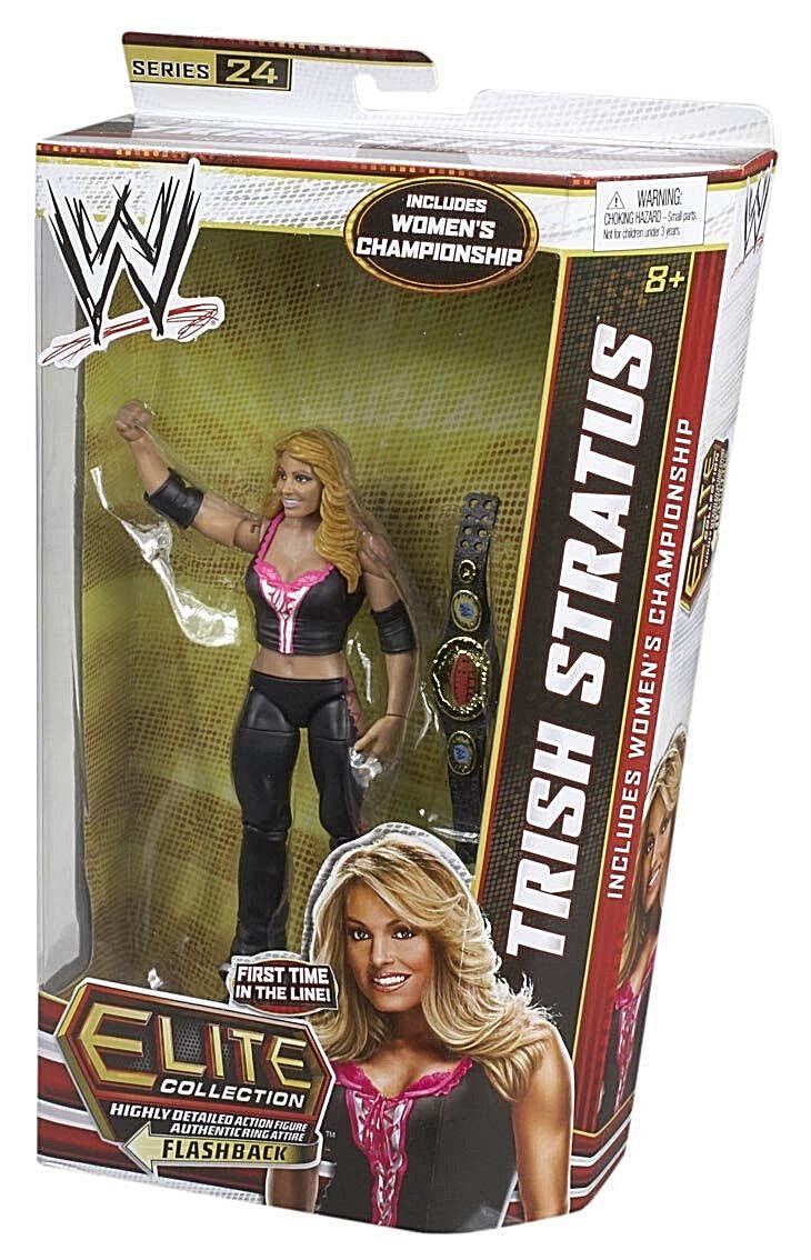 WWE elite, 24 pulgadas, Trish Stratus, 6 pulgadas.