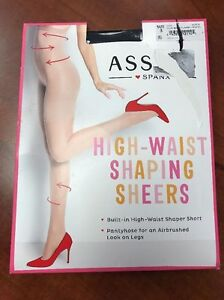 fd0d97d741d Image is loading Spanx-Asset-High-Waisted-Black-Shaping-Sheers-Pantyhose-