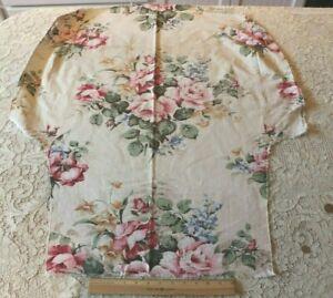 Pretty-Vintage-Pink-Rose-Cotton-Home-Dec-Fabric-c1940-1950-L-37-034-X-W-28-034