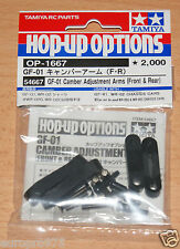 Tamiya 54667 GF-01 Camber Adjustment Arms (Front & Rear) (GF01/WR-02/WR02), NIP
