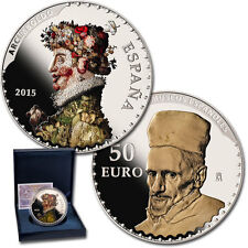 ESPAÑA 50 euro 2015 cincuentin plata  Arcimboldo y Velázquez  III serie TESOROS