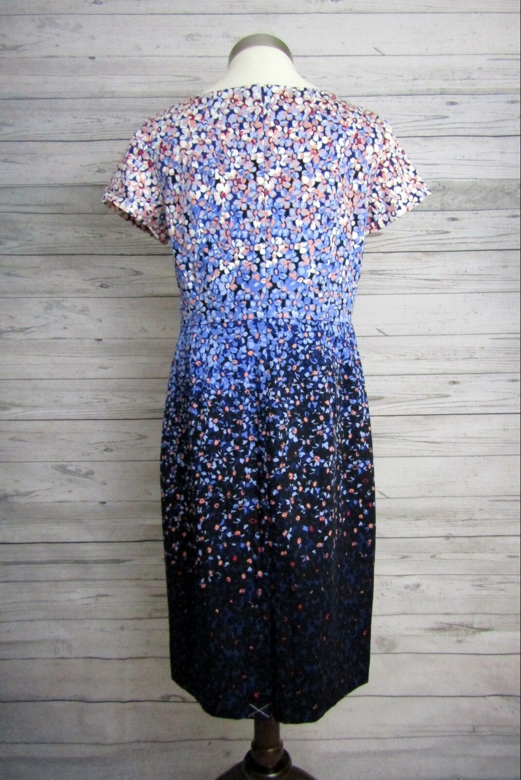 NWT Talbots Dress Dress Dress bluee Floral Lined Cotton Sheath Career or Casual Size 6 3899f8