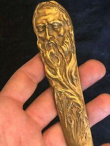 Letter-Opener-amp-Cut-Paper-amp-Knife-amp-Bronze-Golden-amp-XIX-Th-Century