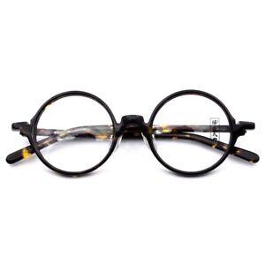 Round-Oversized-Eyeglass-Frames-Vintage-Acetate-Tortoise-Glasses-Mens-Rx-L542