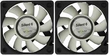 2 x Gelid Solutions Silent 6, Quiet Case Fans, 6cm / 60mm - 3200rpm + 16 CFM