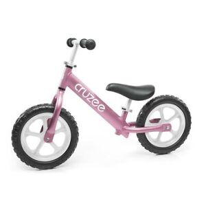 "Cruzee Two - 12"" Aluminium Balance Bike - Pink with White Wheels"