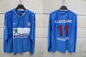 VINTAGE-Maillot-porte-n-11-EQUIPE-de-FRANCE-de-la-POLICE-Nike-match-worn-shirt
