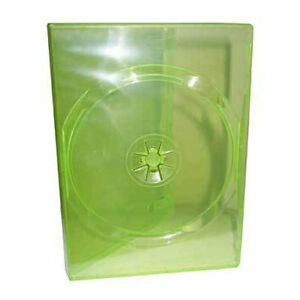 TRANSLUCENT-GREEN-DVD-CASE-14MM-THICK-STD-SIZE-BOX-OF-100-CASES-FOR-XBOX-GAMES