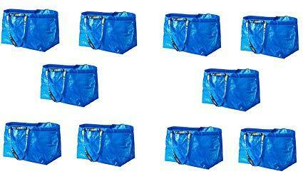 Tote Grocery Storage Reusable Strong FRAKTA Ikea Large Frakta Bags Set of 10