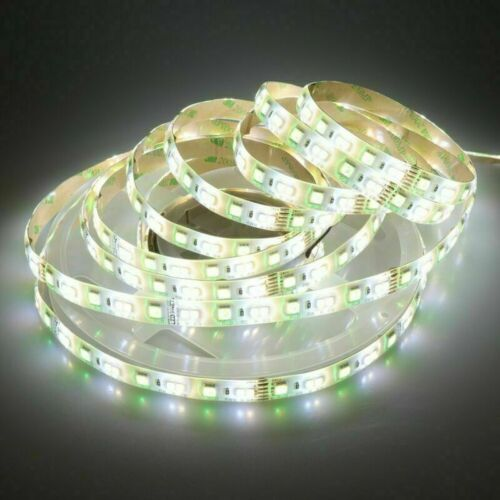 SMD 5050 RGB CCT LED Strip Waterproof DC 12V 24V CCT RGBW//WW string light 5m 50m