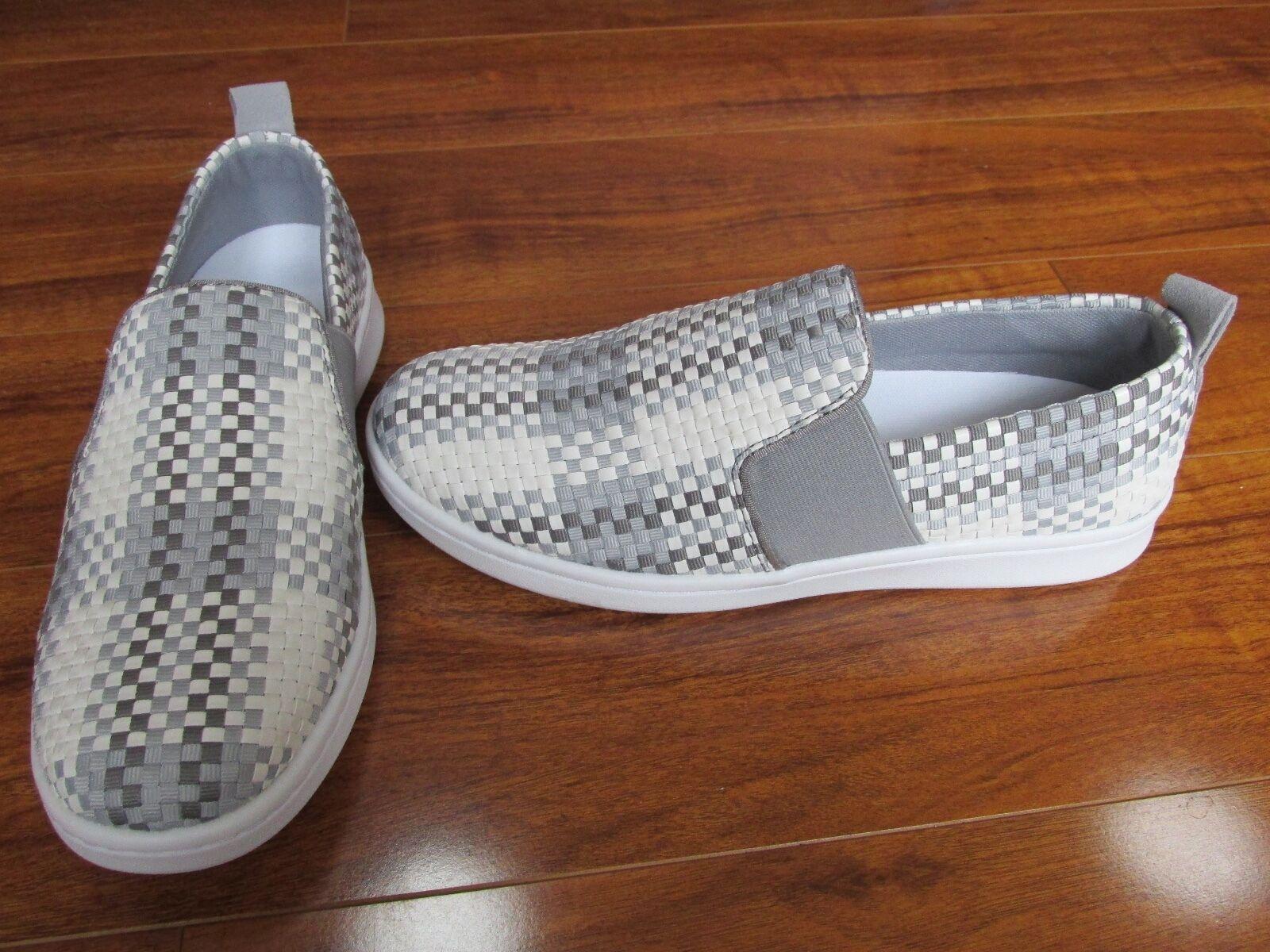 NEW ED Ellen DeGeneres Carlene 2 Pelle Slip-On Scarpe da Ginnastica Donna 11 Grey White