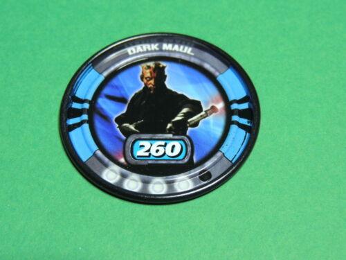 Star Wars Slingers Lansay 2010 #40 Darth Dark Maul Sith Disque metal Disc