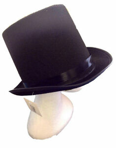 New-Adult-Party-Costume-Black-Top-Hat-Party-Magician-Hat-Wedding-Fedora-Black