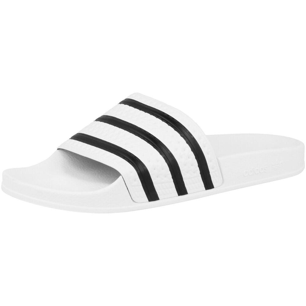 Adidas Adilette Sandalette De Bain Chaussures Baignade Blanc Noir