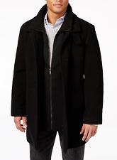 NEW CALVIN KLEIN $350 COLEMAN MENS BLACK WOOL BLEND OVERCOAT COAT SIZE 42R