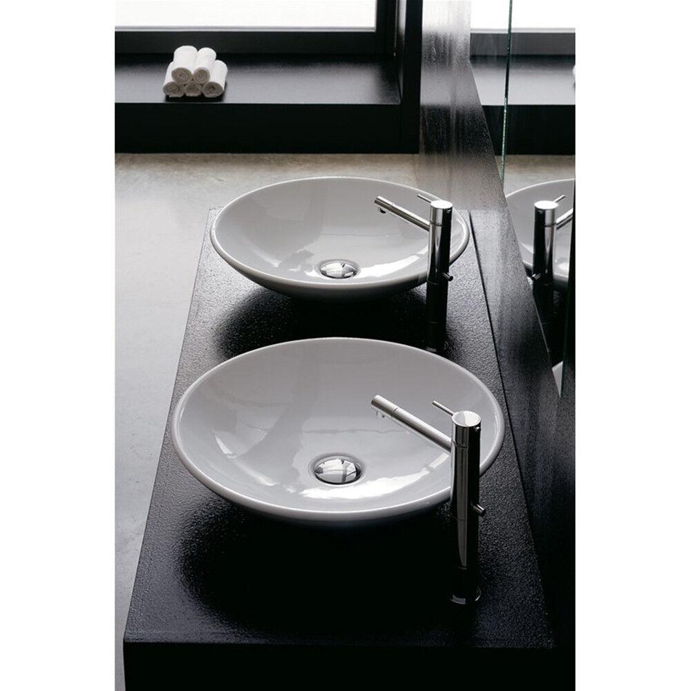 Lavandino Lavabo Bagno da appoggio serie Cup Thin-Line in ceramica