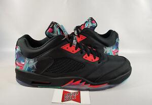 NEW Nike Air Jordan V 5 Retro CNY CHINESE NEW YEAR CHINA BLACK ... fd1abff52