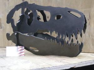 Dinosaur skull metal art. Heavy steel sculpture